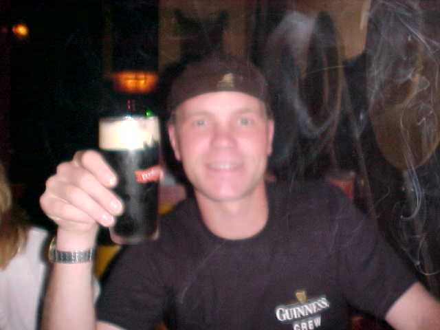 This would be a blurry night, with my favorite beer and some free publicity for Gui......