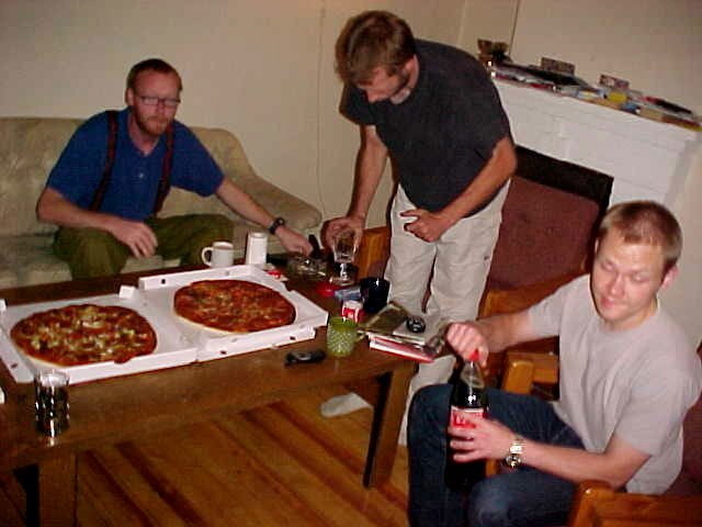 ...it was time for dinner! Pizza delivery!