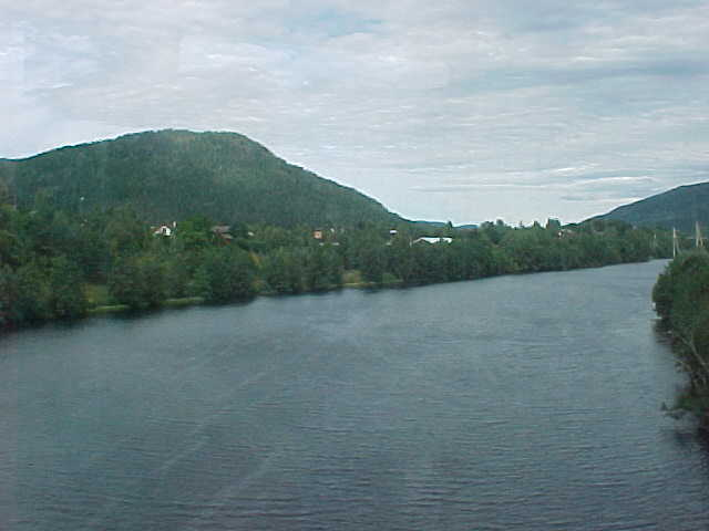 My first views from the train after leaving Drammen.