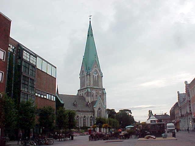 It the famous Domkirken of Kristiansand.