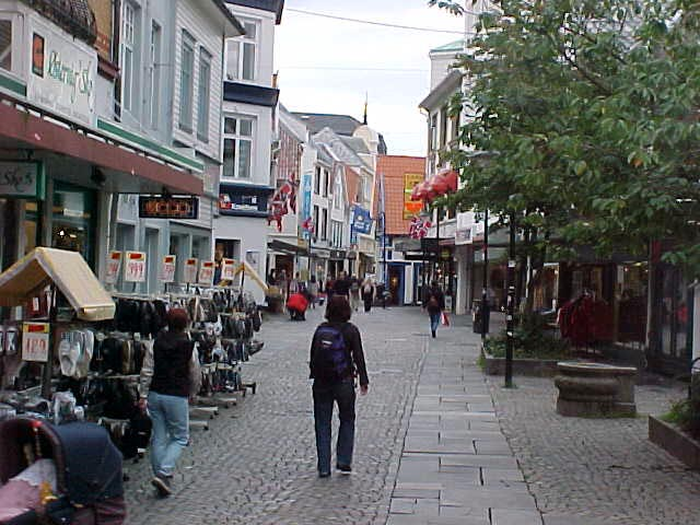After arriving in Stavanger I sauntered through the centre streets...