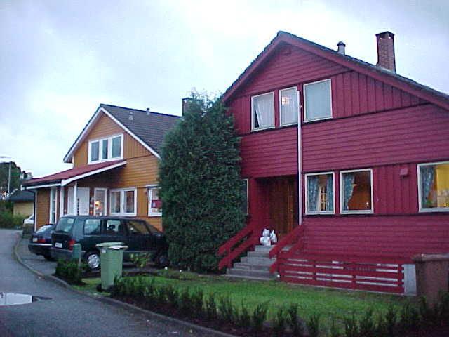 Neighbouring houses in Stavanger, all wooden.