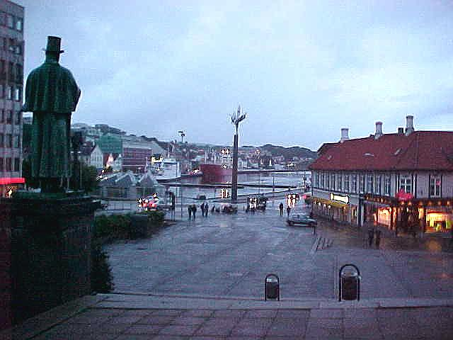 In the evening at Stavanger centre...