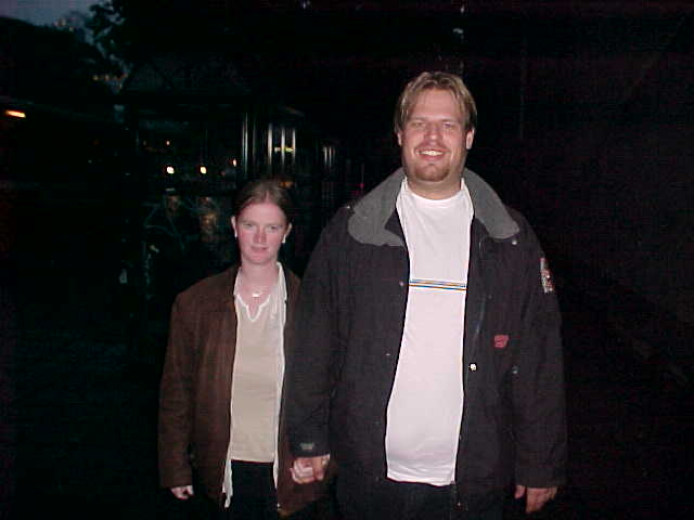 And Gry and Geert Jan on the way to the cinema...