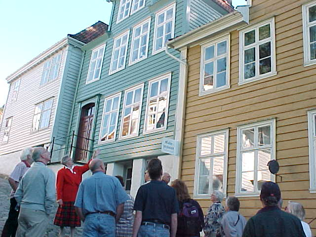 At the Gamle Bergen Museum, showing Bergen houses from the past.