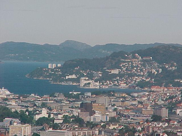 I got this great view on Bergen city...